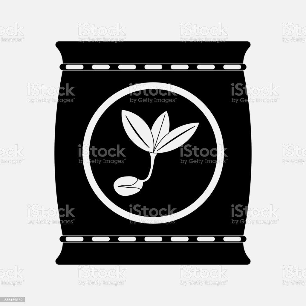 icon fertilizers, plant growth vector art illustration