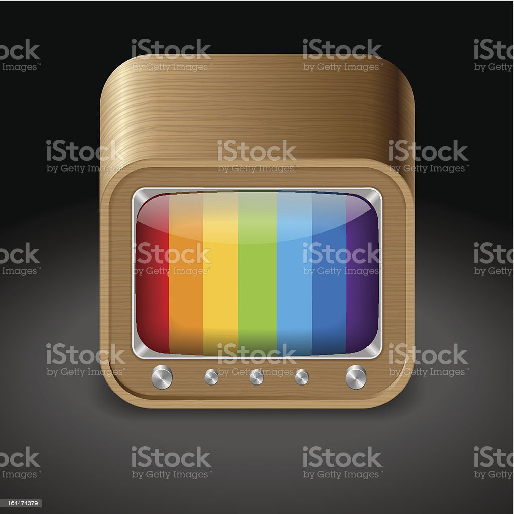 Icon for television set royalty-free icon for television set stock vector art & more images of black background