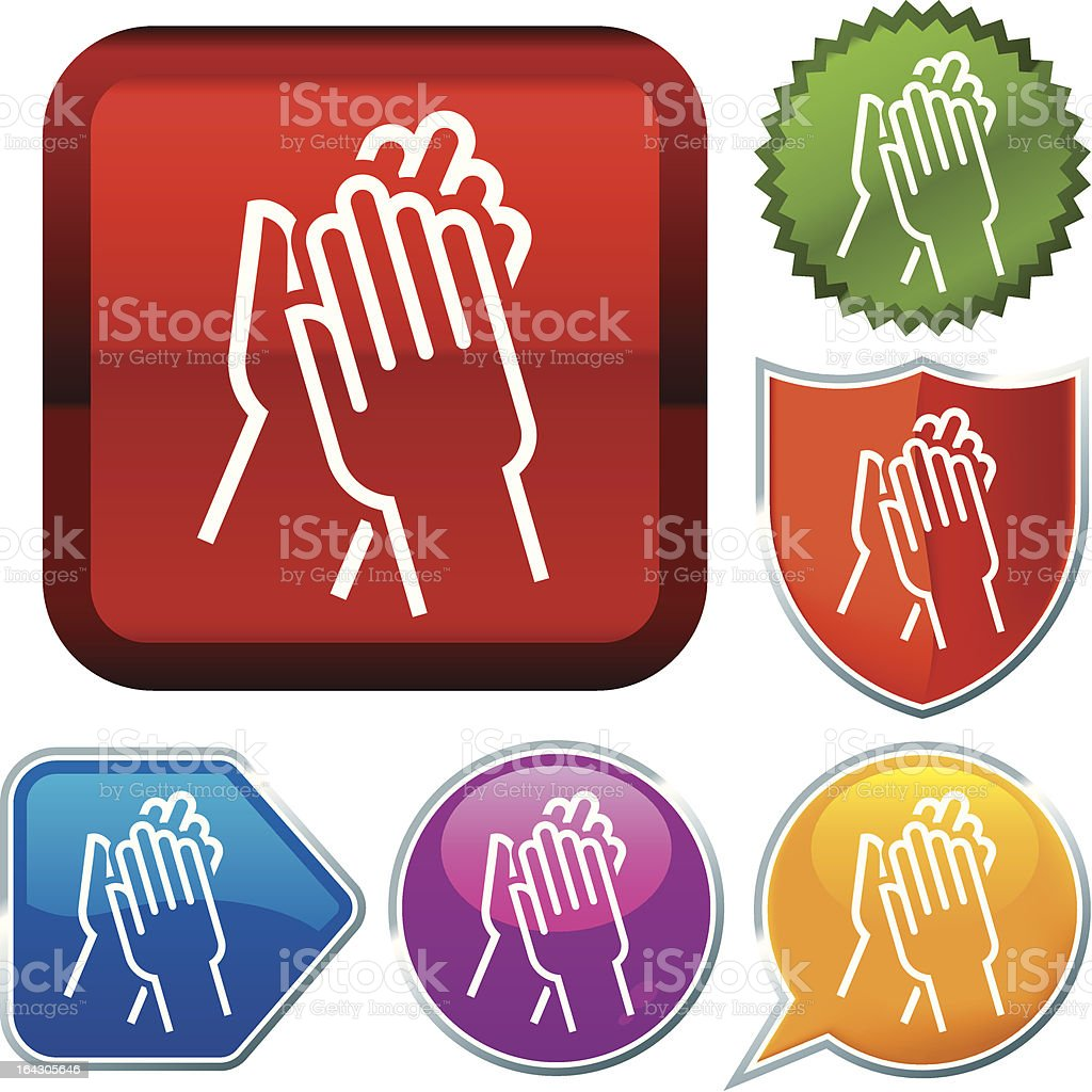icon series: applause royalty-free stock vector art