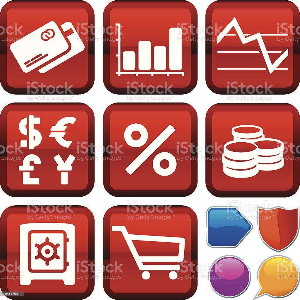 icon series: finance royalty-free stock vector art