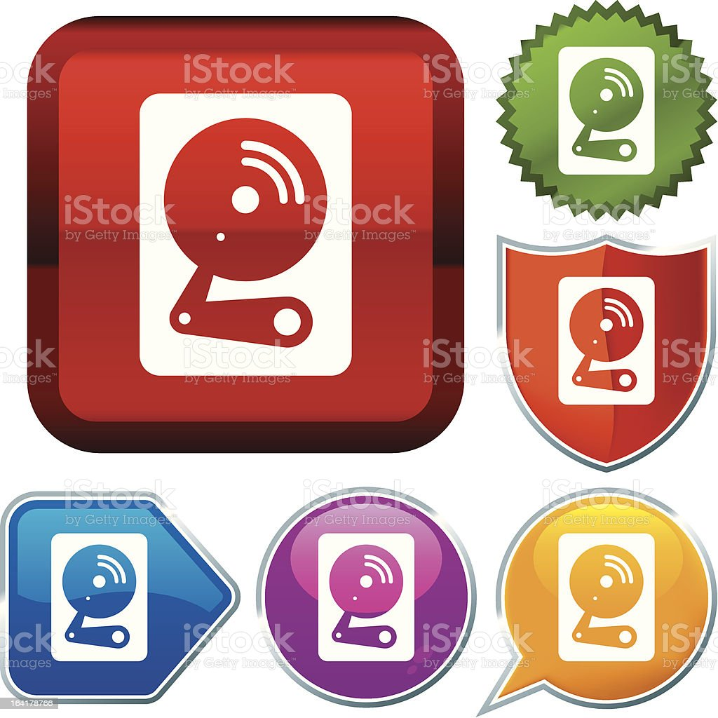 icon series: hard disk royalty-free stock vector art