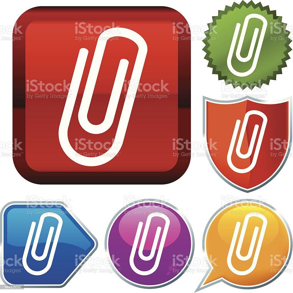 icon series: paper clip royalty-free stock vector art