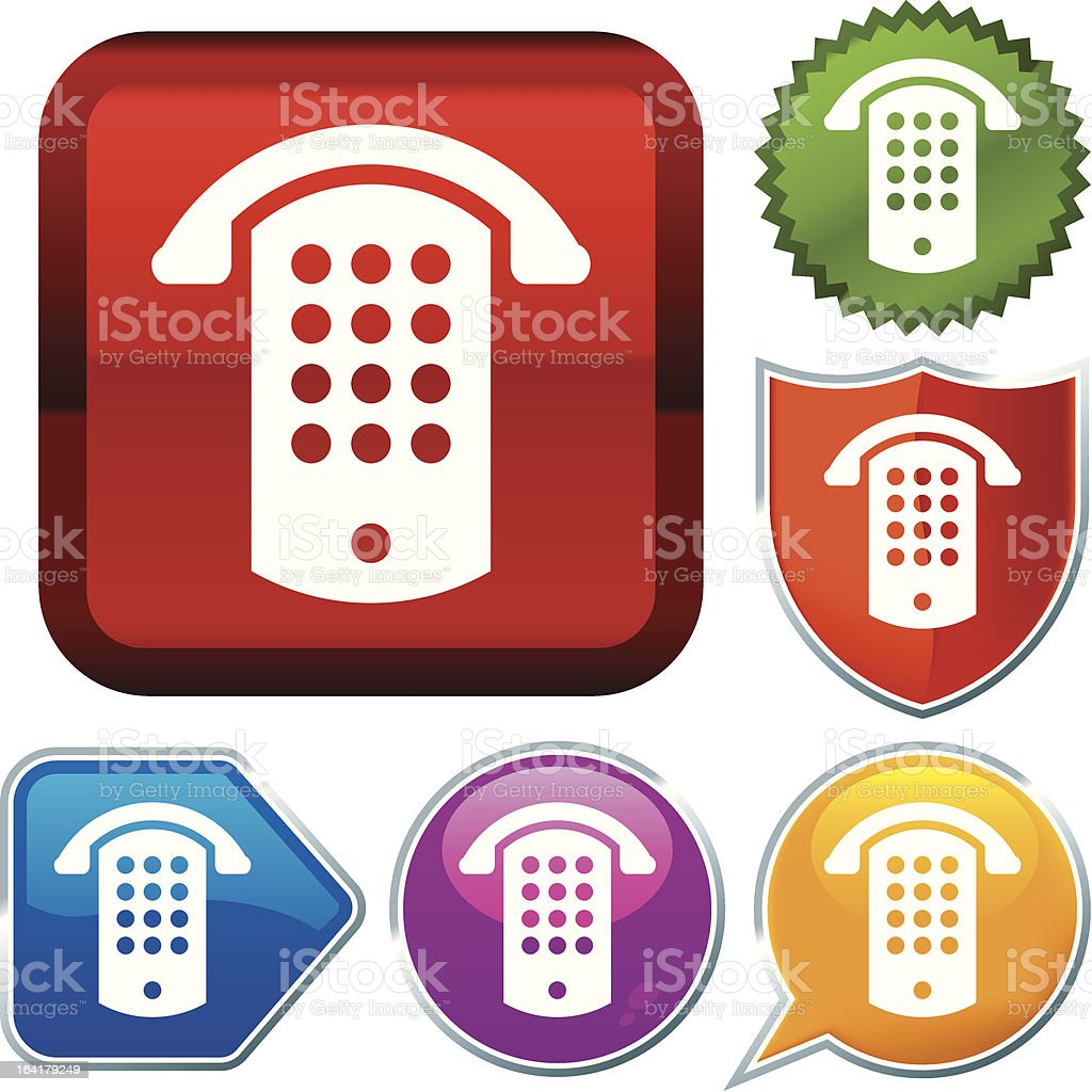 icon series: public phone (vector) royalty-free stock vector art