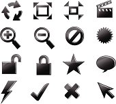 Icon set Black