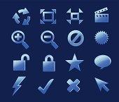 Icon set Blue