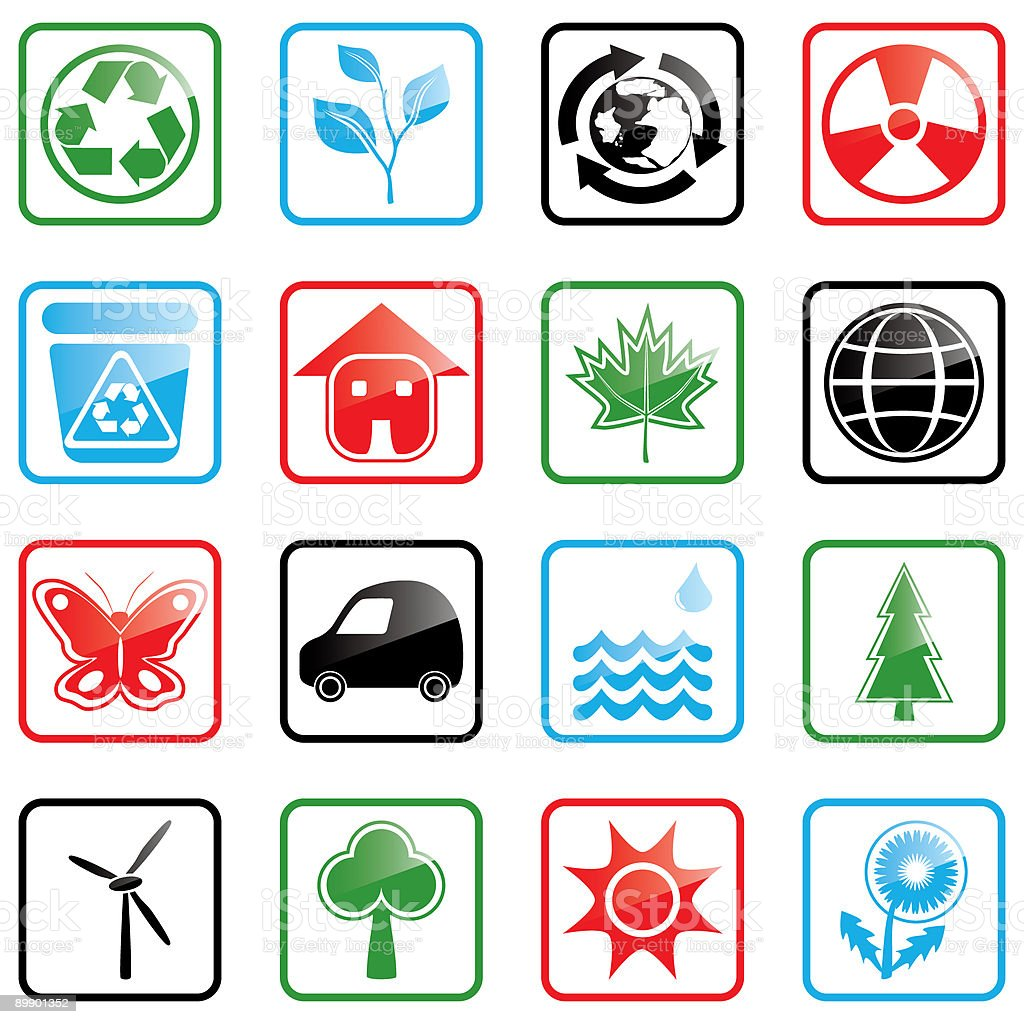 Icon set Environment royalty-free icon set environment stock vector art & more images of alternative energy