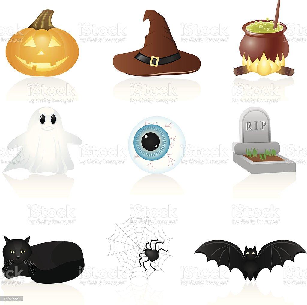 Icon set Halloween royalty-free stock vector art