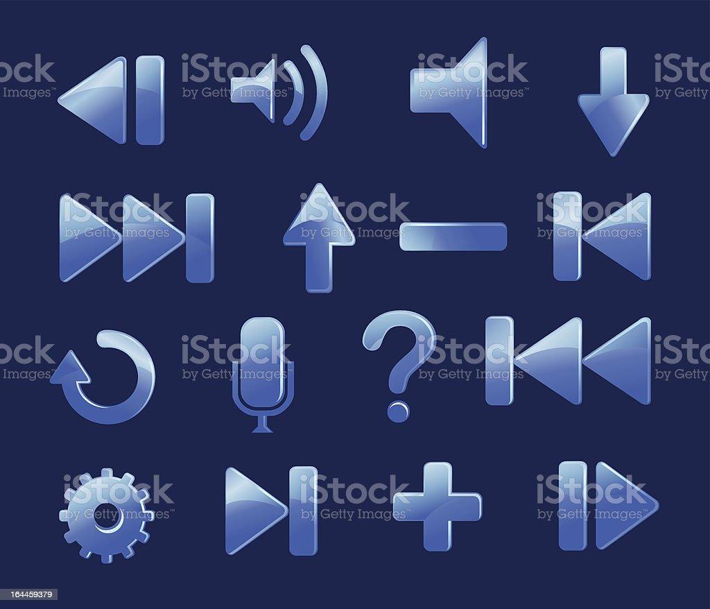 16 set of Blue icons.