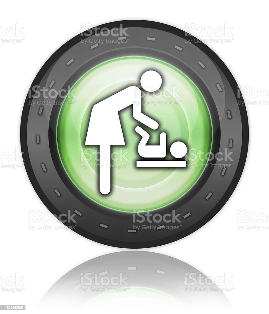 Icon/Button/Pictogram 'Baby Change' royalty-free stock vector art
