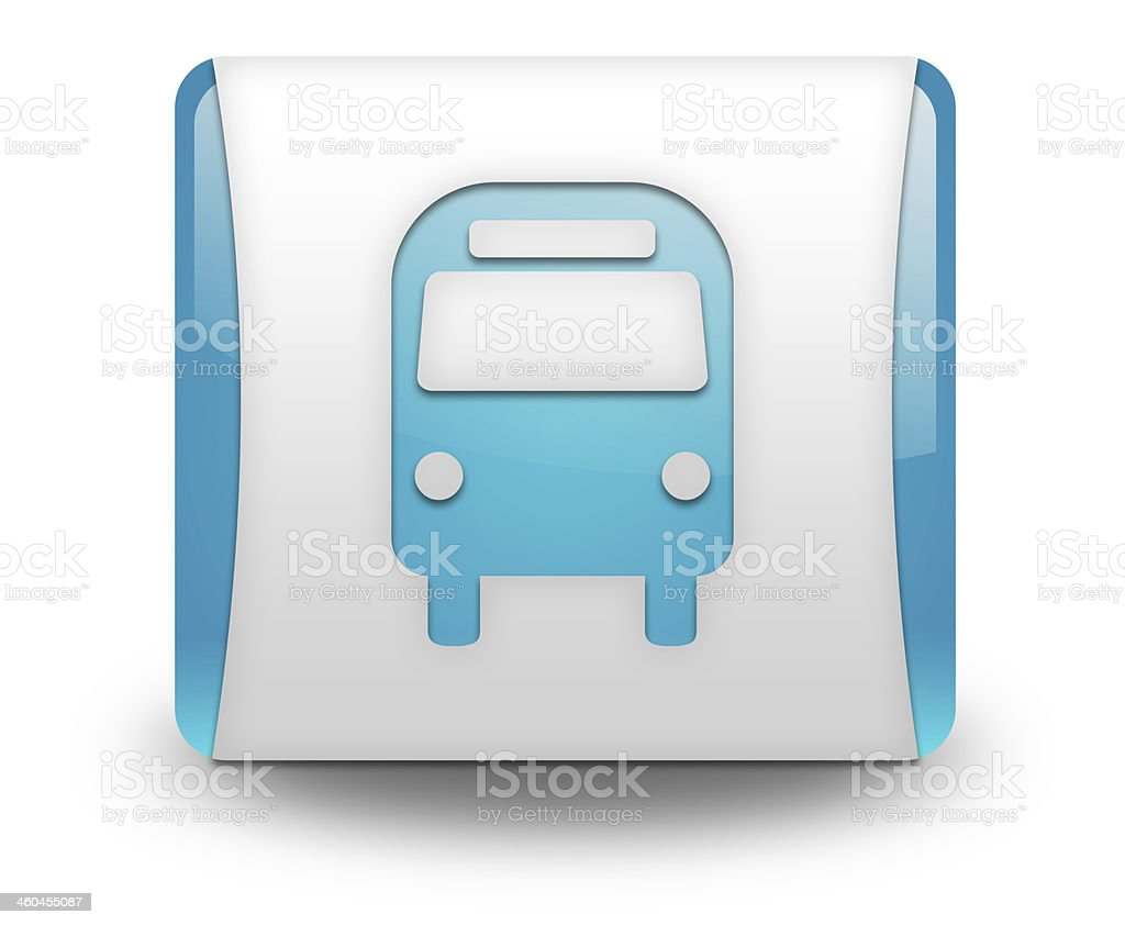 Icon/Button/Pictogram Bus / Ground Transportation royalty-free stock vector art