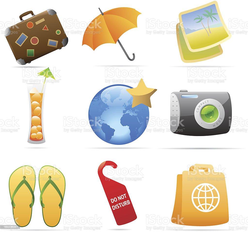 Icons for resort vector art illustration