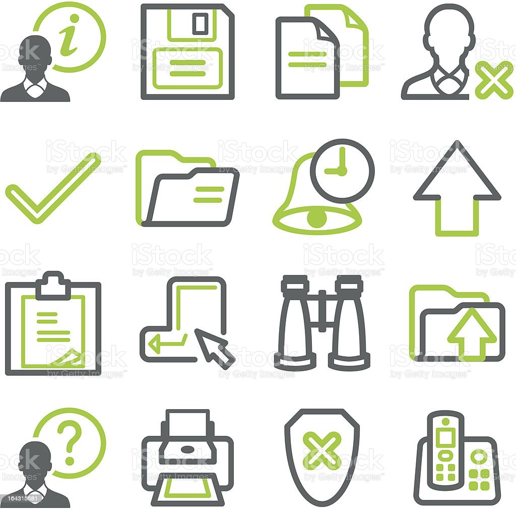 Icons for web set 2 royalty-free stock vector art