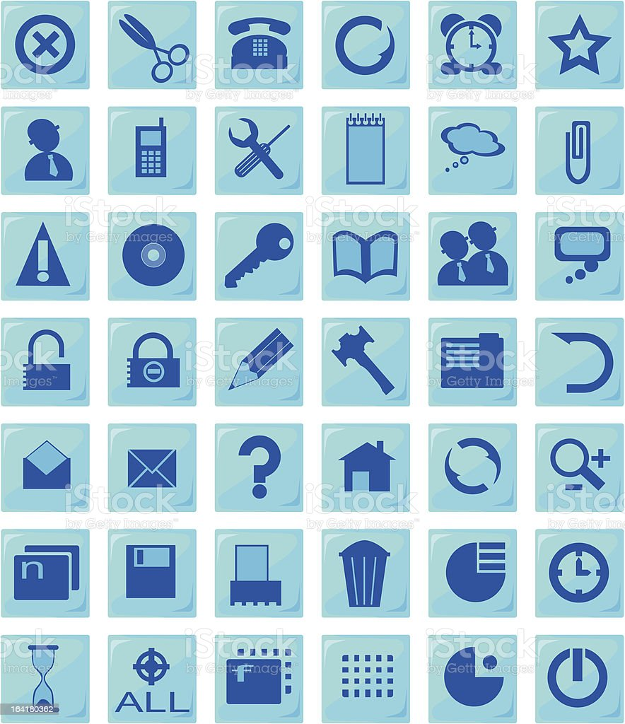 icons (set1,part1) royalty-free stock vector art