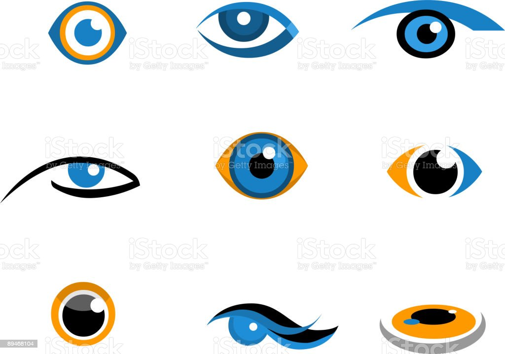ИКОНЫ глаз ИКОНЫ глаз — стоковая векторная графика и другие изображения на тему Без людей Стоковая фотография