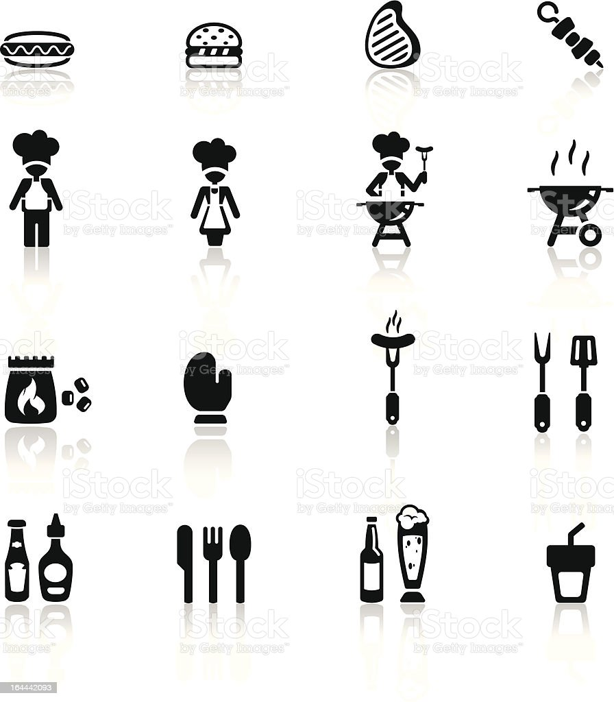 Icons set barbecue royalty-free stock vector art