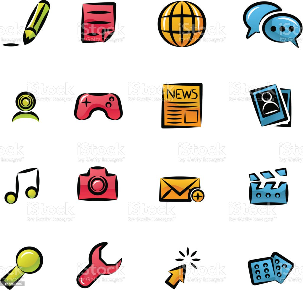 Icons Set | Social Media royalty-free stock vector art