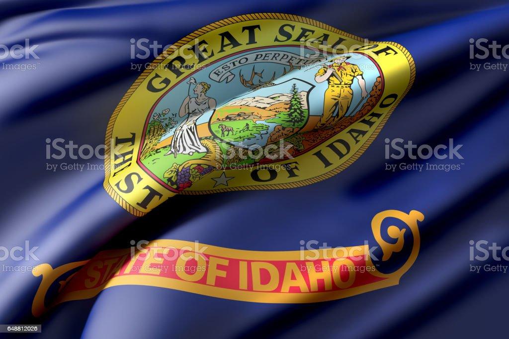 Idaho State flag vector art illustration