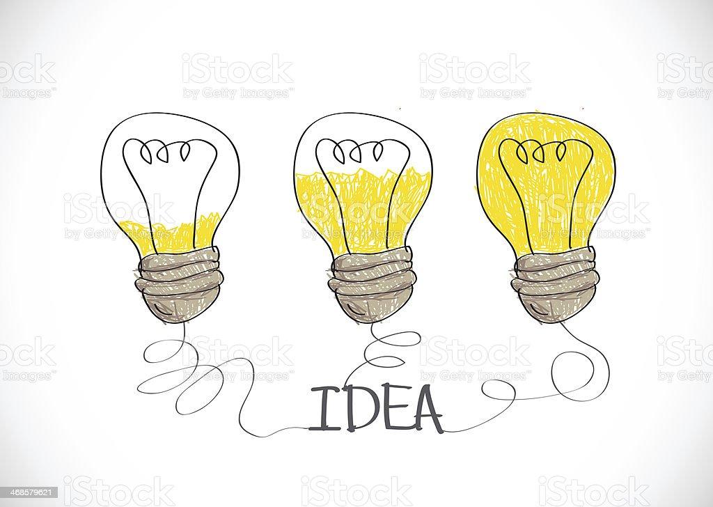 idea Light bulb royalty-free stock vector art