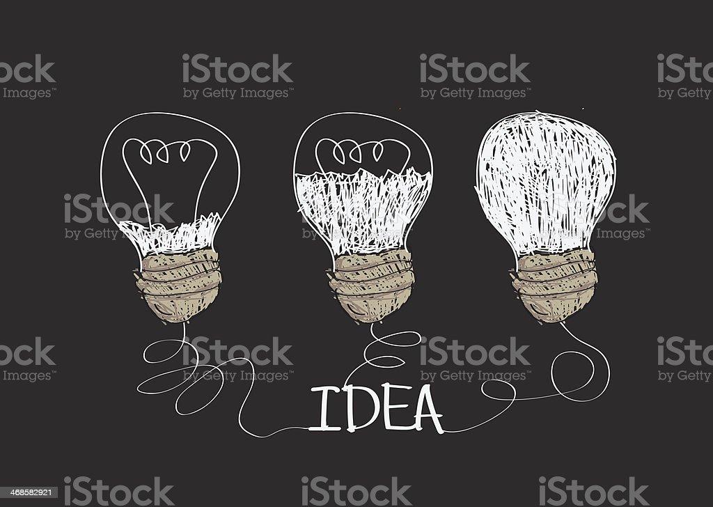 idea Light bulb royalty-free idea light bulb stock vector art & more images of backgrounds
