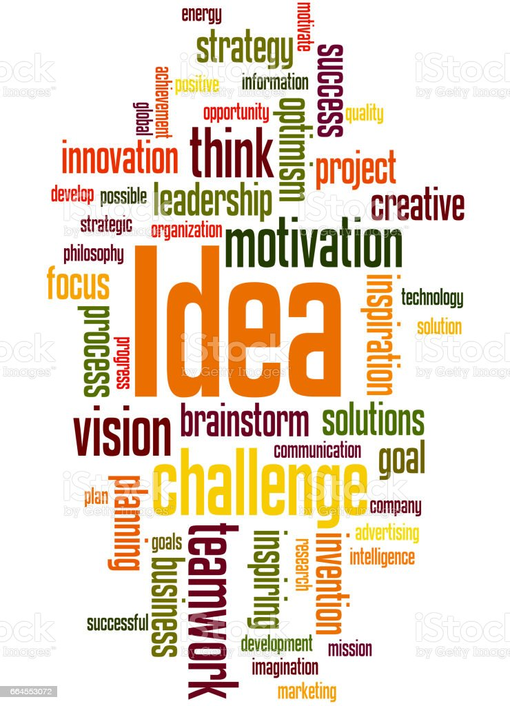 Idea, word cloud concept 8 royalty-free idea word cloud concept 8 stock vector art & more images of achievement
