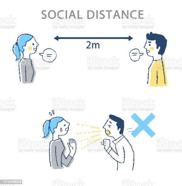 理想的な社会的距離の例と悪い例 - 20代のベクターアート素材や画像を多数ご用意