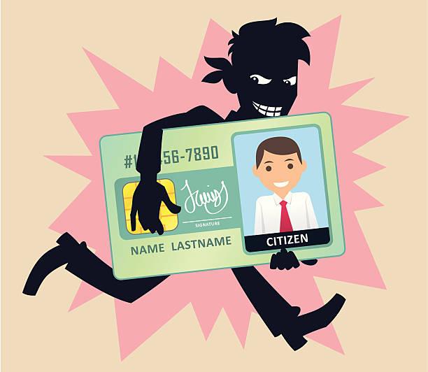 識別の窃盗 - id盗難点のイラスト素材/クリップアート素材/マンガ素材/アイコン素材