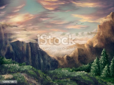 Idyllic and dreamy environment scenery - Digital Painting
