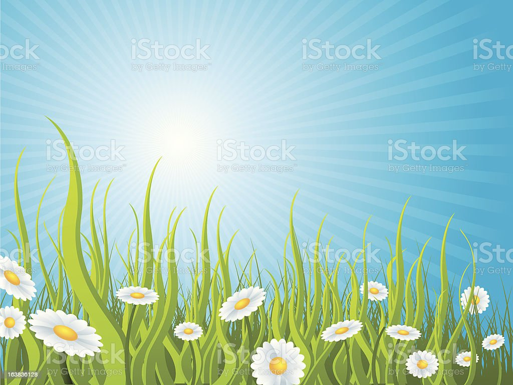 Idyllic sunny day background royalty-free stock vector art