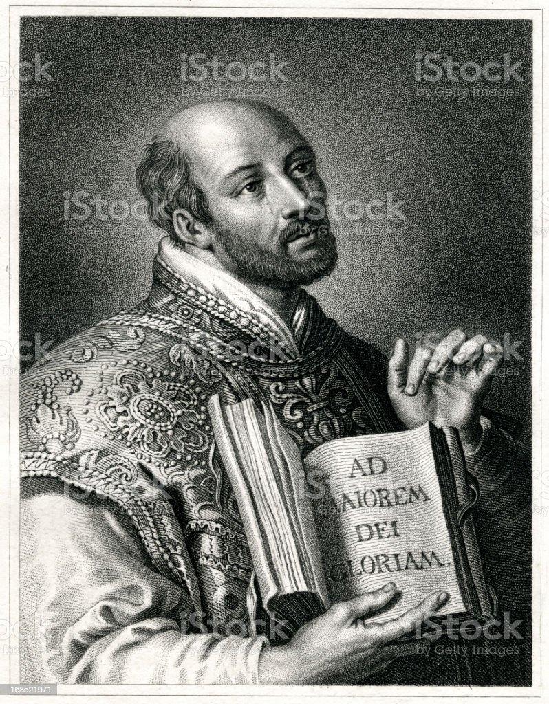 Ignatius of Loyola royalty-free stock vector art