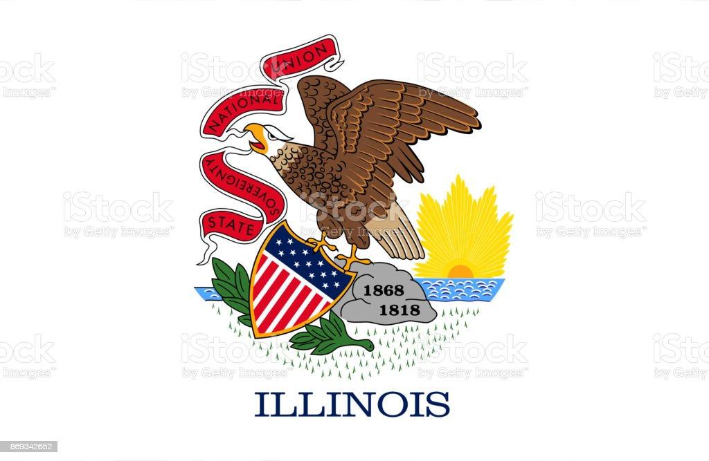 Bandeira de Illinois - ilustração de arte em vetor