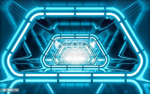 949309726 istock photo Illuminated corridor 967556130