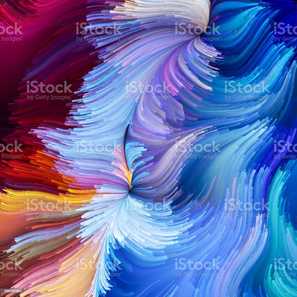 Illusion of Liquid Color vector art illustration