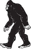 illustrated bigfoot