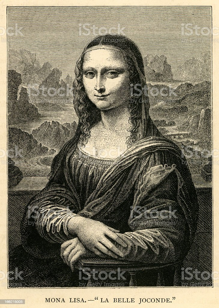 Illustrated version of the Mona Lisa royalty-free illustrated version of the mona lisa stock vector art & more images of 16th century