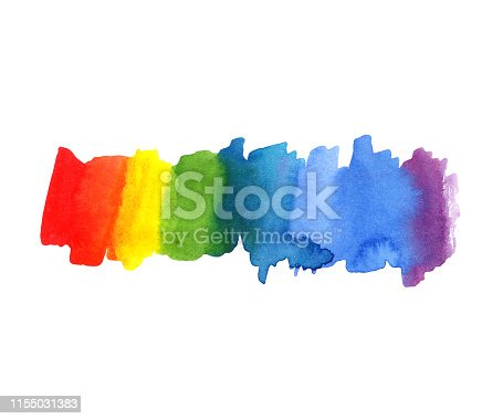 illustration Abstract watercolor rainbow color blot background. Color spectrum