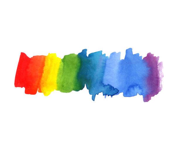 bildbanksillustrationer, clip art samt tecknat material och ikoner med illustration abstrakt akvarell regnbåge färg blot bakgrund. färgspektrumet - stolthet