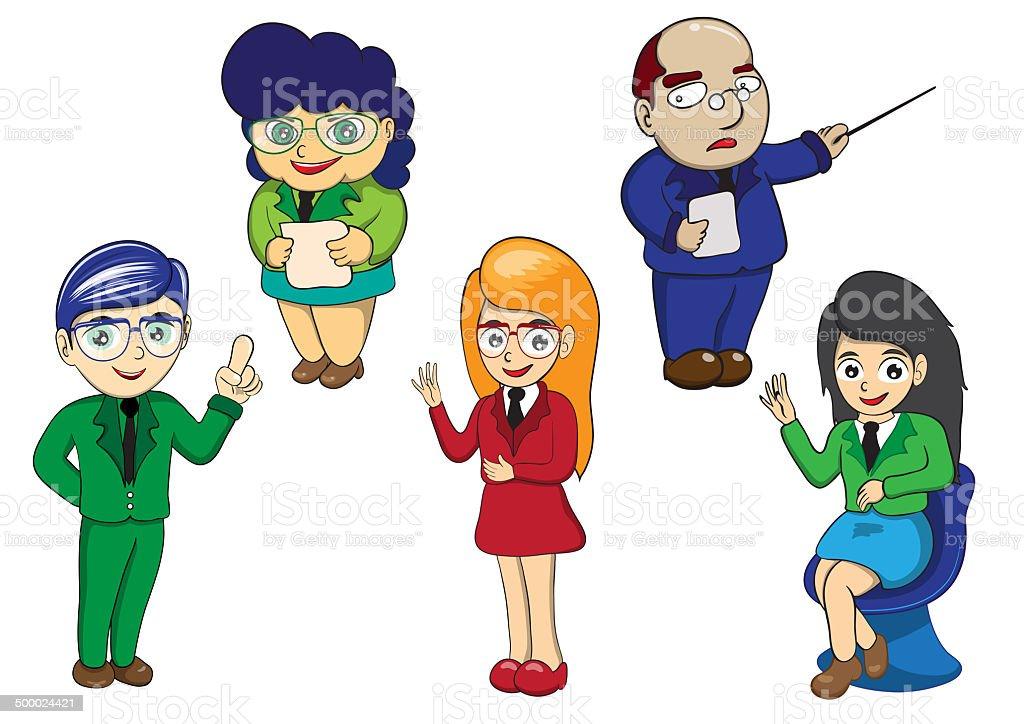 Illustration character of business cartoon royalty-free stock vector art