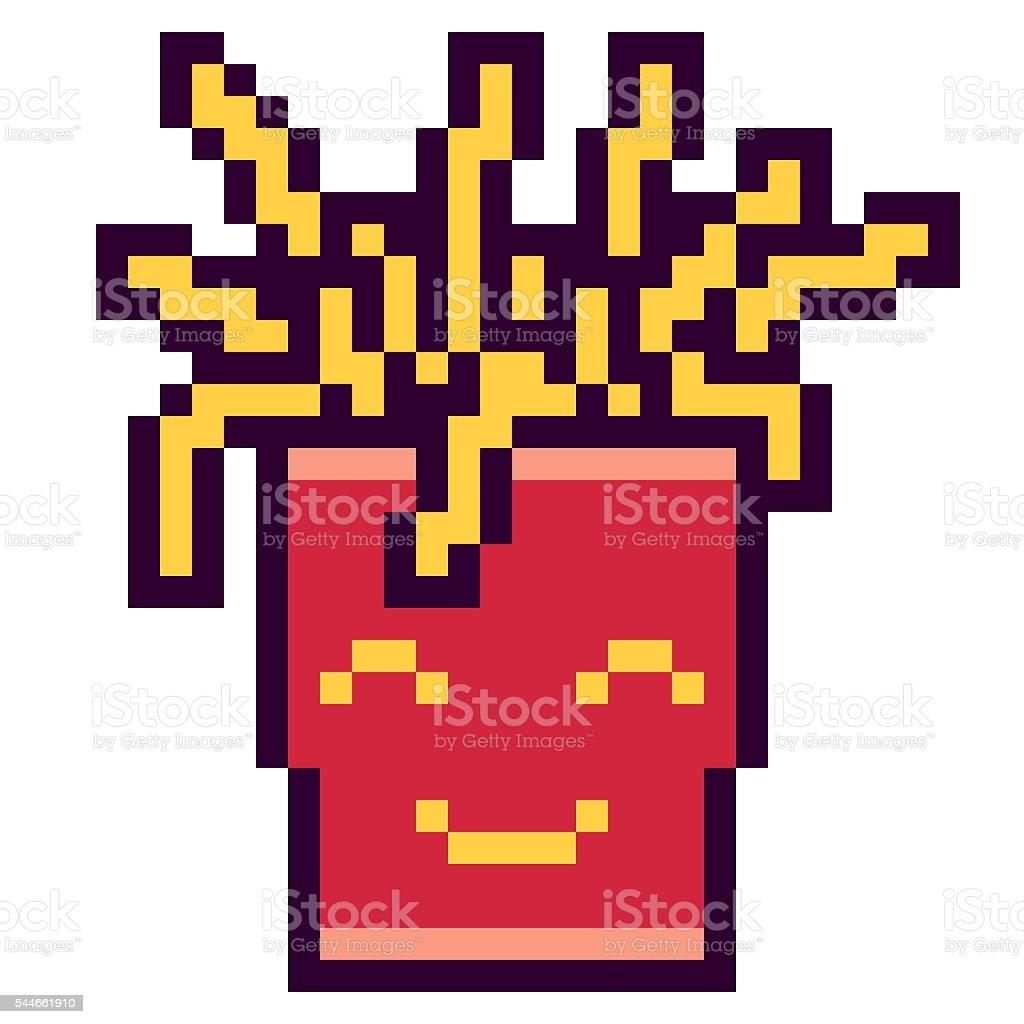 Pixel Art Design : Illustration design pixel art fries stock vector
