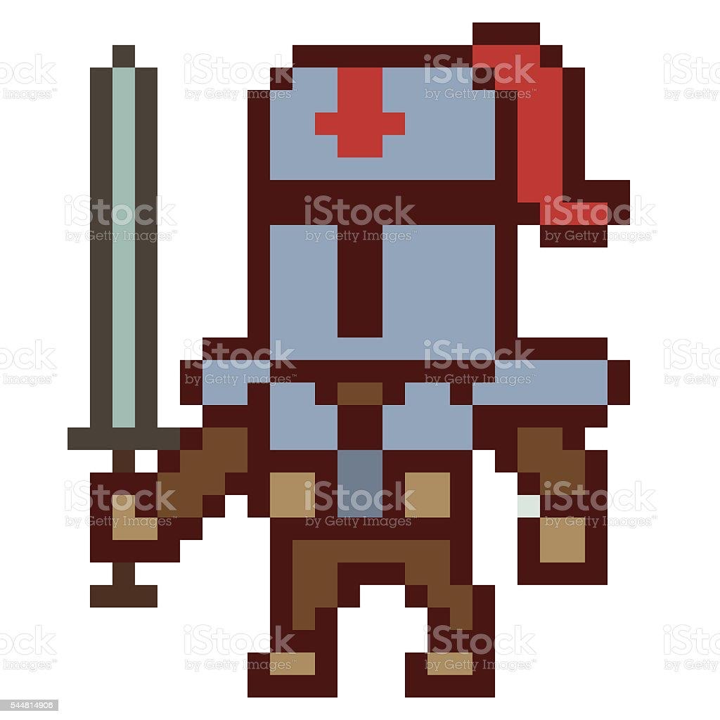 Chevalier Dillustration Dessin Pixel Art Vecteurs Libres De