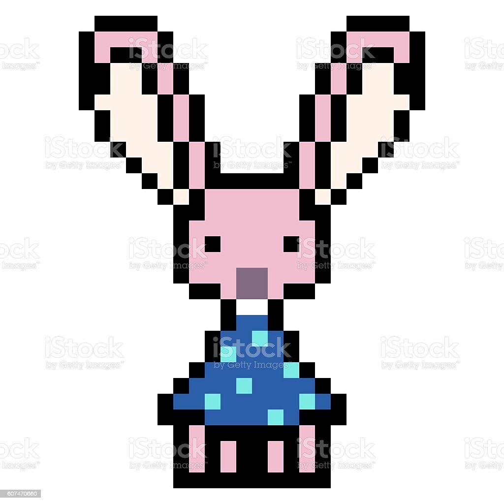 Art Design Pixel Lapin Illustration Vecteurs Libres De
