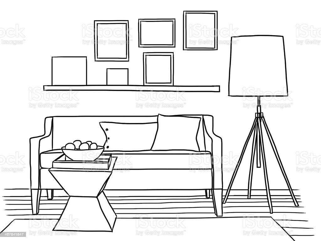 Photo of living room interior design