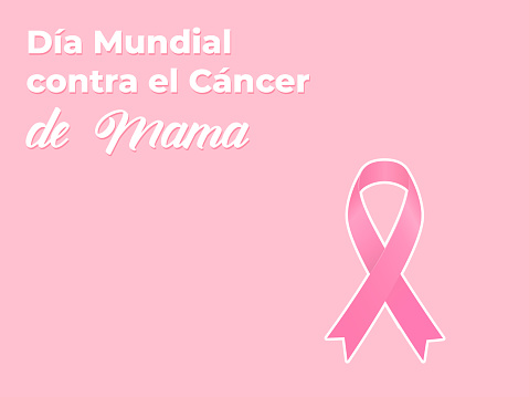 illustration in spanish in concept of international breast cancer day