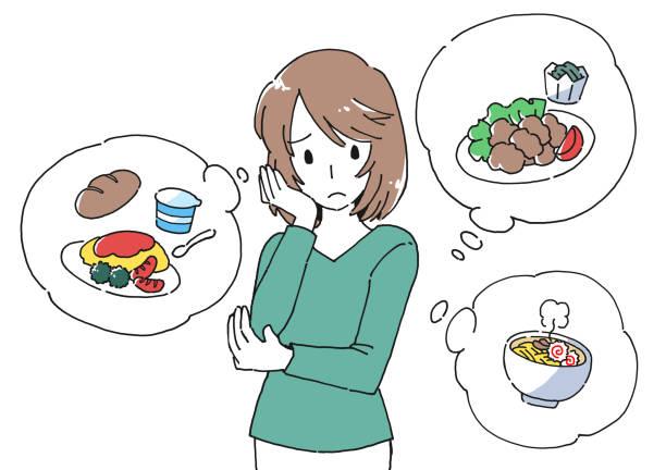 長時間休業中の家庭での食事や育児に苦しむ母親のイラスト素材 - 主婦 日本人点のイラスト素材/クリップアート素材/マンガ素材/アイコン素材
