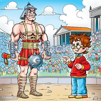 illustration of a boy and Gladiator