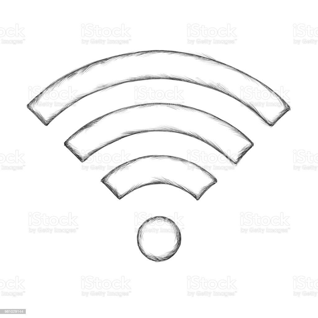 Beispiel für ein Wireless-symbol – Vektorgrafik