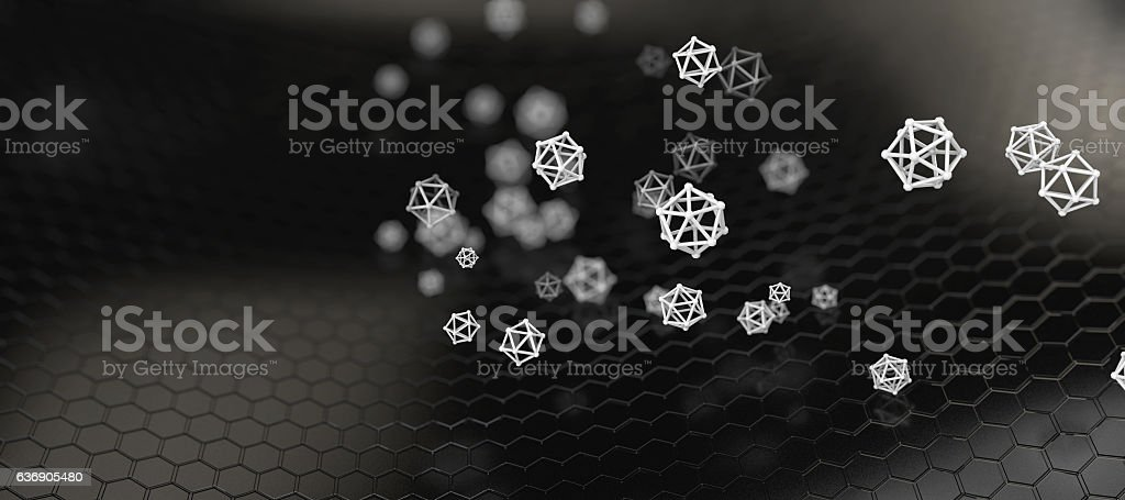 illustration of Abstract nano structure background vector art illustration