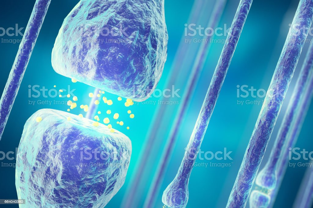 Illustration of an active receptor isolated on white background. 3d rendering stock photo