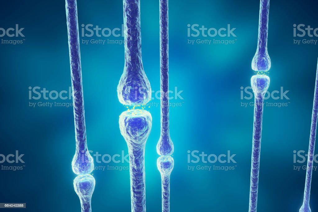 Illustration of an active receptor isolated on white background. 3d rendering vector art illustration