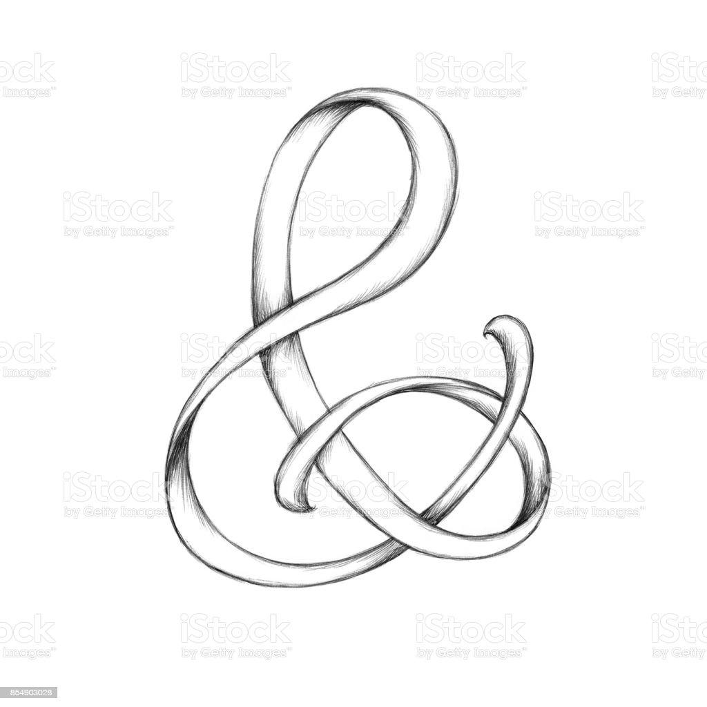 Beispiel für ein kaufmännisches und-Zeichen – Vektorgrafik