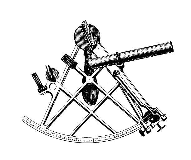 ilustrações de stock, clip art, desenhos animados e ícones de sextante - sextante